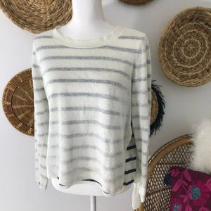 Eileen Fisher • Striped Pullover Crew Neck Sweater